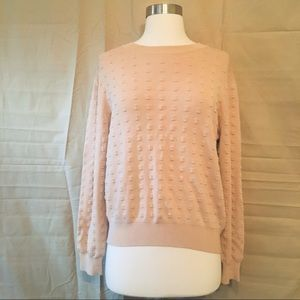 COS Textured Pink Crewneck Sweater M